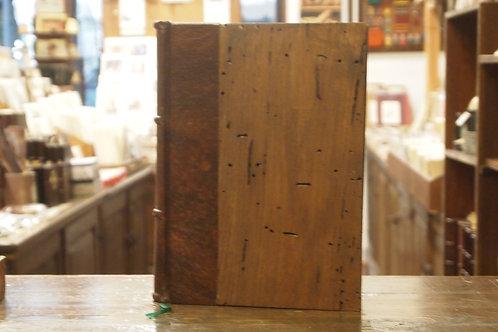 Quaderno in pelle, legno secolare e carta sfrangiata