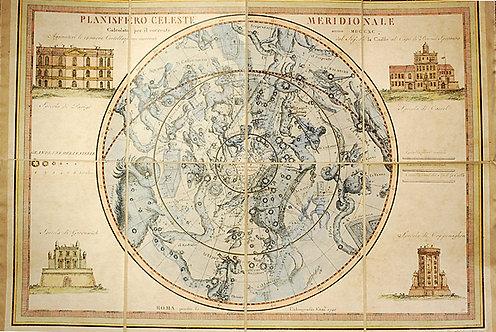 Planisfero celeste meridionale