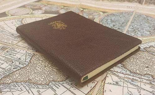 Quaderni tascabili in pelle con monogramma in oro