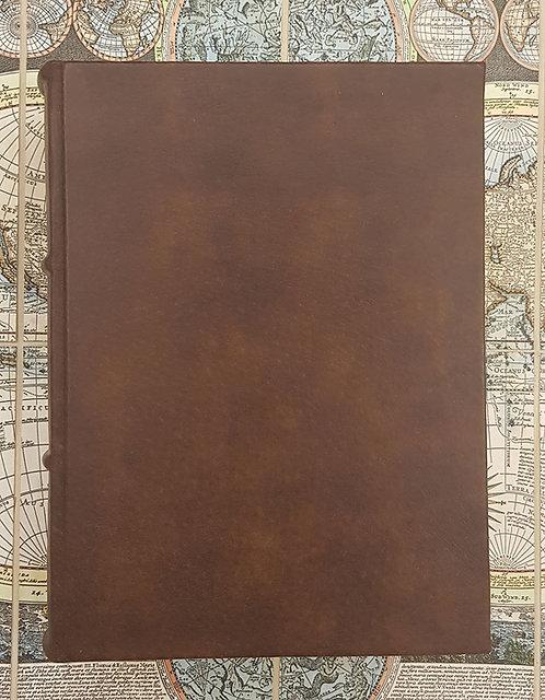 Quaderno in pelle con carta sfrangiata