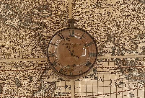 Grande orologio vittoriano in ottone