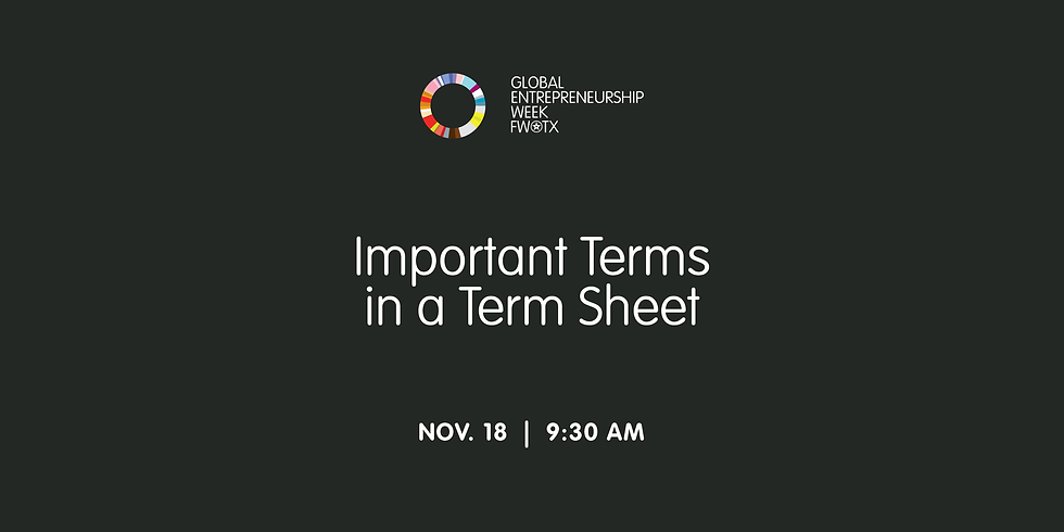 Important Terms in a Term Sheet