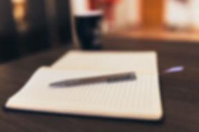 Taccuino e penna