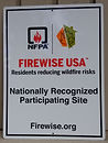 Firewise discussion at the BBQ