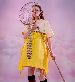 Mädchen mit einem Net