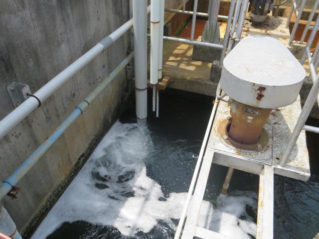 廃水処理施設点検
