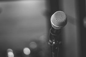 black-and-white-photo-of-microphone-2293
