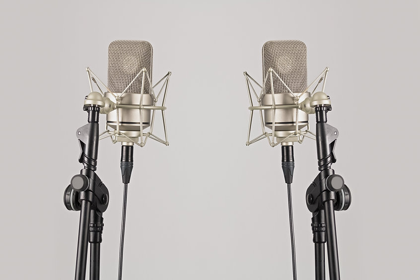 black-and-silver-microphones-with-stand-