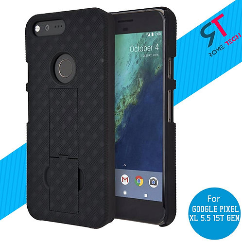 Google Pixel XL 5.5 (1st Gen) Rome Tech OEM Shell Holster Combo Case - Black