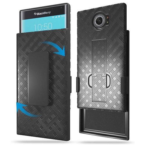 Blackberry Priv Rome Tech OEM Shell Holster Combo Case - Black