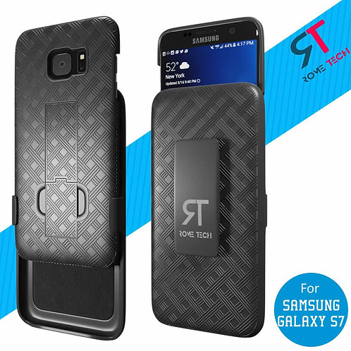 Samsung Galaxy S7 Rome Tech OEM Shell Holster Combo Case - Black