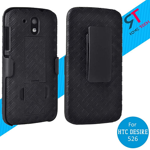 HTC Desire 526 Rome Tech OEM Shell Holster Combo Case - Black