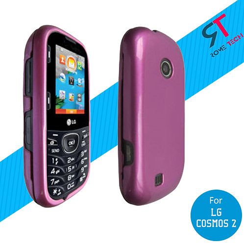 LG Cosmos 2 Rome Tech OEM Hard Snap-On Cover Case - Pink