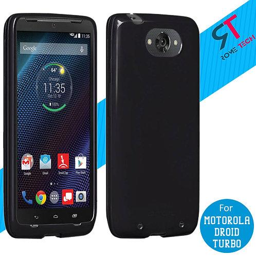 Motorola Droid Turbo Rome Tech OEM High Gloss Silicone Case - Black
