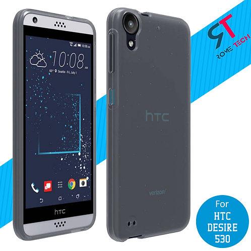 HTC Desire 530 Rome Tech OEM Matte Silicone Case Cover - Grey