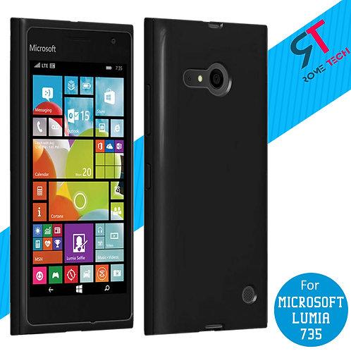 Microsoft Lumia 735 Rome Tech OEM High Gloss Silicone Case - Black