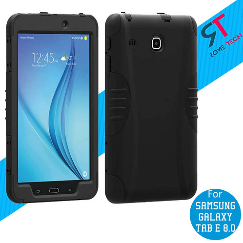 "Samsung Galaxy Tab E 8.0"" Rome Tech OEM Rugged Case Cover - Black"