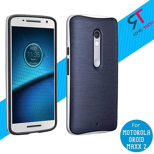 Motorola Droid Maxx 2 Rome Tech OEM Soft TPU Bumper Case - Navy Blue