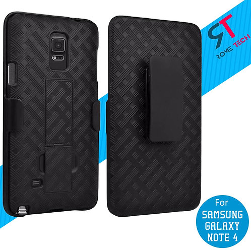 Samsung Galaxy Note 4 Rome Tech OEM Shell Holster Combo Case - Black
