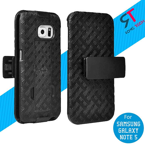 Samsung Galaxy Note 5 Rome Tech OEM Shell Holster Combo Case - Black
