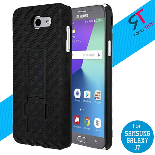 Samsung Galaxy J7 / J7 V Rome Tech OEM Shell Holster Combo Case - Black