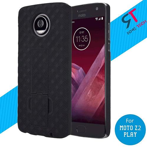 Motorola Moto Z2 Play Rome Tech OEM Shell Holster Combo Case - Black
