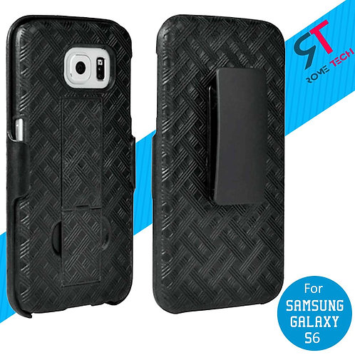 Samsung Galaxy S6 Rome Tech OEM Shell Holster Combo Case - Black