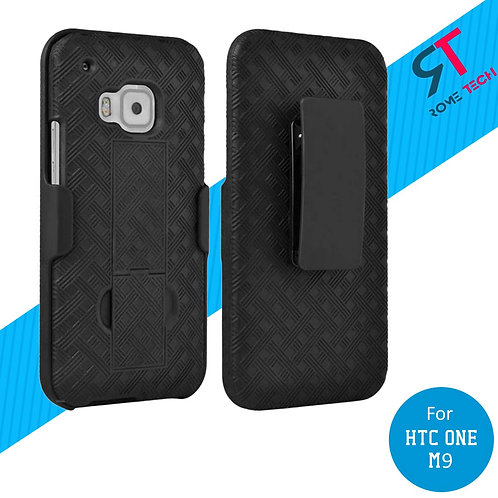 HTC One M9 Rome Tech OEM Shell Holster Combo Case - Black
