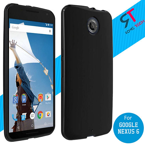 Google Nexus 6 Rome Tech OEM High Gloss Silicone Case - Black