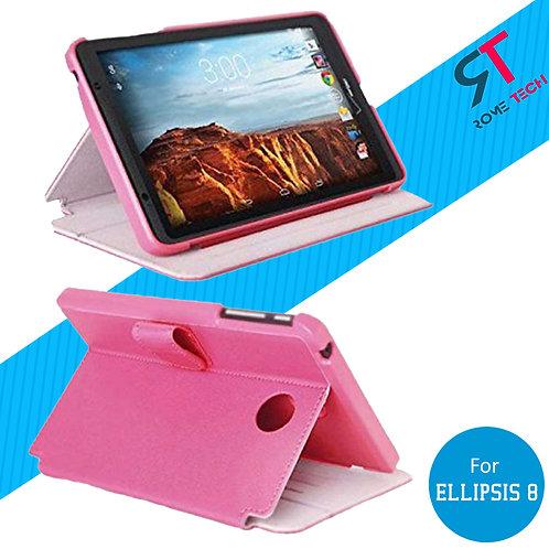 Verizon Ellipsis 8 Rome Tech OEM Folio Case w/Clip and w/Stand - Pink