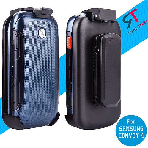 Samsung Convoy 4 Rome Tech OEM Belt Clip Holster Case Cover - Black