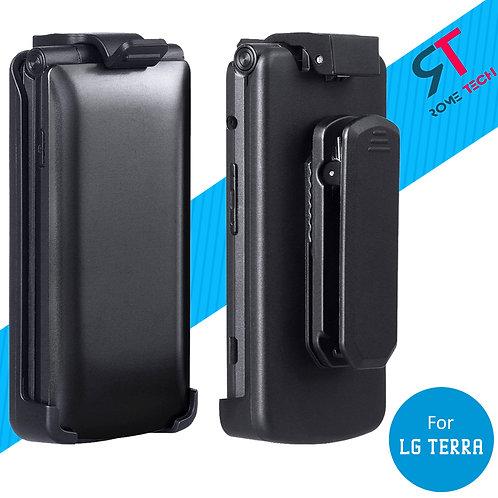 LG Terra Rome Tech Belt Clip Holster Case - Black