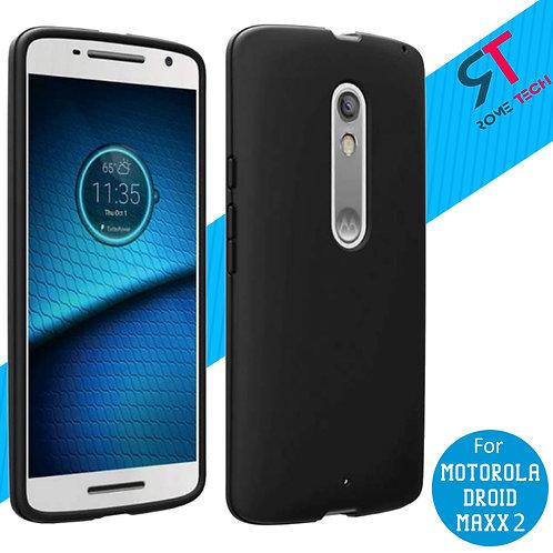 Motorola Droid Maxx 2 Rome Tech OEM Matte Silicone Case Cover - Black