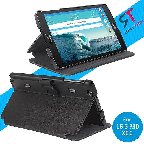LG G Pad X8.3 Rome Tech OEM Folio Case w/Clip - Black