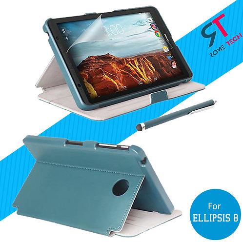 Verizon Ellipsis 8 Rome Tech OEM Folio Case w/Stand - Blue