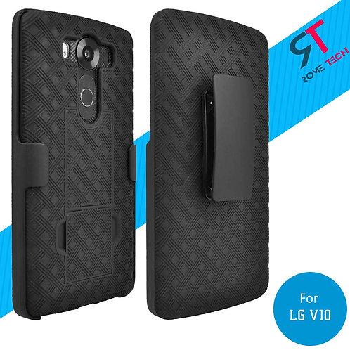 LG V10 Rome Tech OEM Shell Holster Combo Case - Black