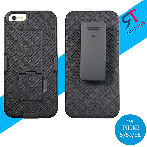 Apple iPhone 5/5s/SE Rome Tech OEM Shell Holster Combo Case - Black