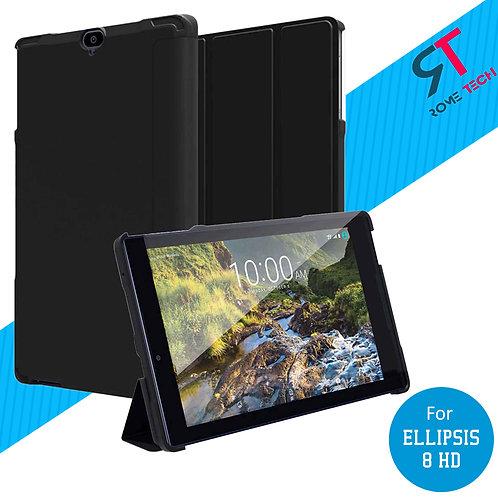 Verizon Ellipsis 8 HD Rome Tech OEM Folio Case w/Stand - Black