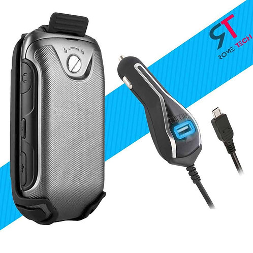 Verizon Samsung Convoy 3 Holster Clip Case & RomeTech Car Charger