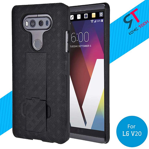 LG V20 Rome Tech OEM Shell Holster Combo Case - Black