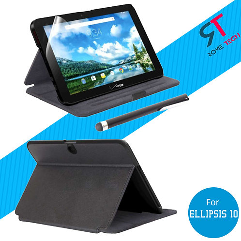 Verizon Ellipsis 10 Rome Tech OEM Folio Case/Screen/Stylus Bundle