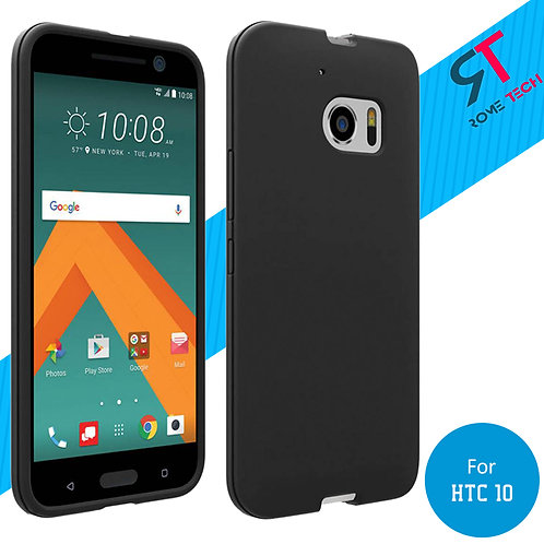 HTC 10 Rome Tech OEM Matte Silicone Case Cover - Black