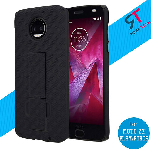 Motorola Moto Z2 Force Rome Tech OEM Shell Holster Combo Case - Black