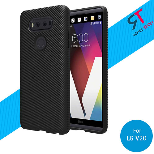 LG V20 Rome Tech OEM Textured Silicone Case Cover - Black