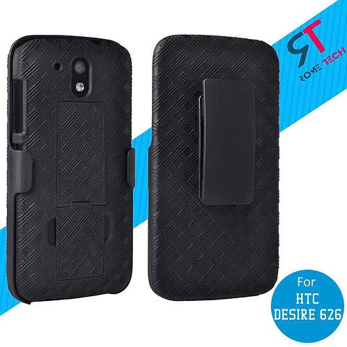 HTC Desire 626 Rome Tech OEM Shell Holster Combo Case - Black