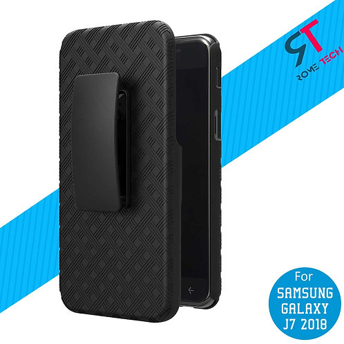 Samsung Galaxy J7 / J7 V (2018) Rome Tech OEM Shell Holster Combo Case - Black