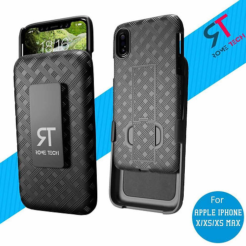 Apple iPhone X/Xs/Xs Max Rome Tech OEM Shell Holster Combo Case - Black