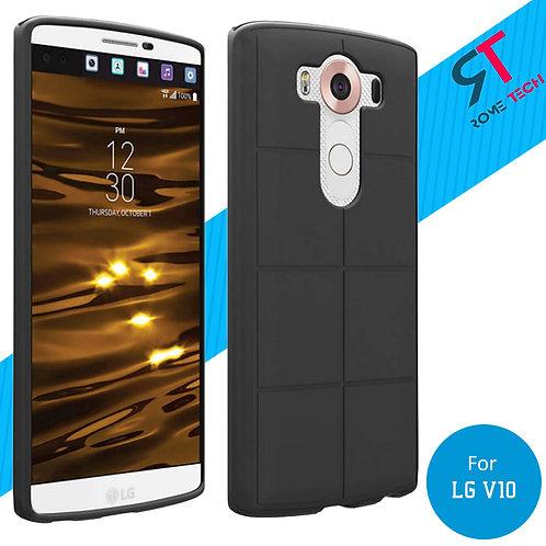 LG V10 Rome Tech OEM Matte Silicone Cover Case - Black