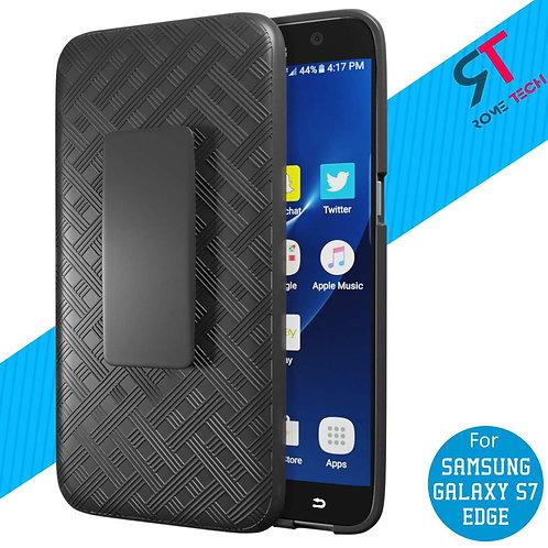 Samsung Galaxy S7 edge Rome Tech OEM Shell Holster Combo Case - Black