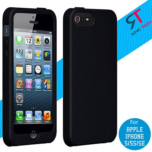 Apple iPhone 5/5s/SE Rome Tech OEM High Gloss Silicone Case - Black